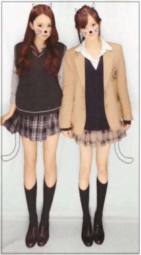 niki プリクラ 学生時代 制服